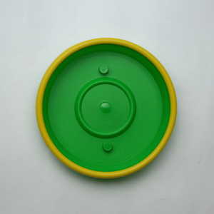 Prato de Polipropileno Veneza Redondo Verde e Amarelo 10x10x2cm