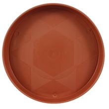 Prato Plástico com Rodízio Redondo Marrom 22cm