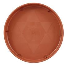 Prato Plástico com Rodízio Redondo Marrom 30cm