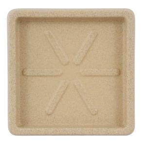 Prato Plástico Quadrado Bege 25x25cm