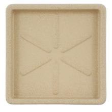 Prato Plástico Quadrado Bege 30x30cm