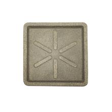 Prato Plástico Quadrado Pedra 25x25cm