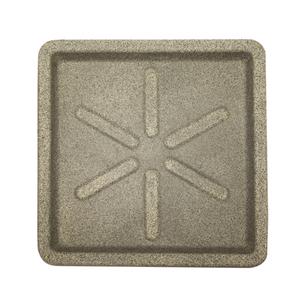 Prato Plástico Quadrado Pedra 30x30cm