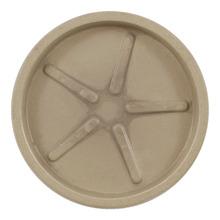 Prato Plástico Redondo Bege 28cm