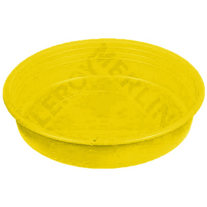 Prato pl stico roma redondo amarelo 9cm leroy merlin for Leroy merlin prato