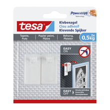 Prego Adesivo 0,5kg Plástico Branco tesa® Smart Mounting System
