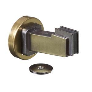 Prendedor de Porta Zamac Latonado Oxidado 47x47x75mm União Mundial