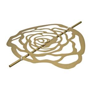 Presilha Flor Fosca Dourada Importada