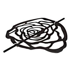 Presilha Flor Fosca Preta Importada