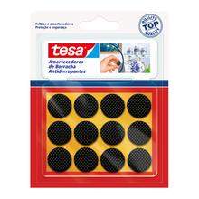 Protetor Antirrísco para Móveis Adesivo Redondo 4x22mm Preto 12 peças Tesa