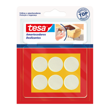 Protetor Antirrísco para Móveis Adesivo Redondo 4x26mm Branco 6 peças Tesa