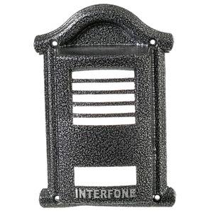 Protetor para Interfone F8 Alumínio Fundido Prata/Ouro Craqueado/Branco/Ouro Envelhecido/Prata Envelhecido 23x20cm Decorarte