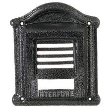 Protetor para Interfone F9 Alumínio Fundido Prata/Ouro Craqueado/Branco/Ouro Envelhecido/Prata Envelhecido 23x20cm Decorarte