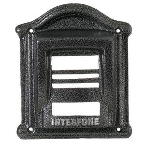 Protetor para Interfone F9 Vip Alumínio Fundido Prata/Ouro Craqueado/Branco/Ouro Envelhecido/Prata Envelhecido 23x20cm Decorarte