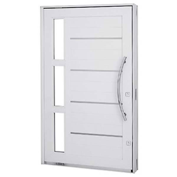 Folha de porta pivotante metal direito 2 23x126 2m for Porta leroy merlin