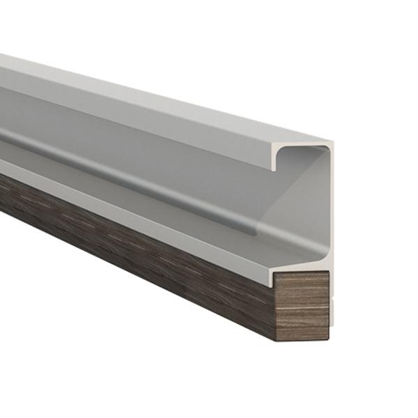 Puxador perfil alum nio cinza 3000mm leroy merlin - Perfiles de aluminio para armarios ...