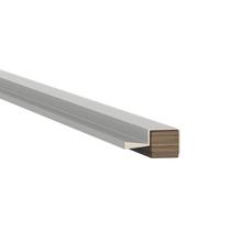 Puxador Barra para Móveis Alumínio Cinza 3000mm