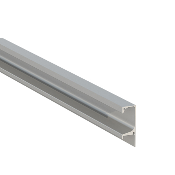 Puxador perfil para m veis alum nio cinza 3000mm leroy for Perfil u aluminio leroy merlin