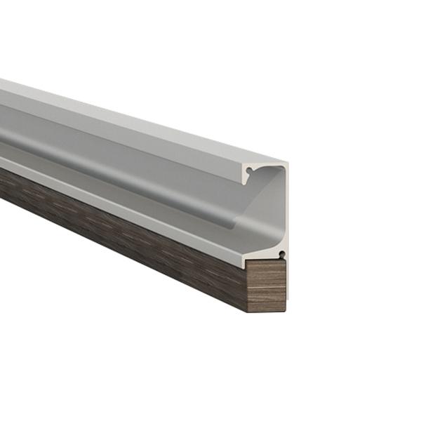 Puxador perfil para m veis alum nio cinza 3000mm leroy - Perfil aluminio leroy merlin ...