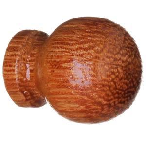 Puxador de Madeira Cerejeira 1 furo 25 mm Zamar