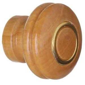 Puxador de Madeira Marfim 1 furo 28 mm Zamar