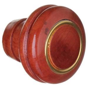 Puxador de Madeira Mogno 1 furo 37 mm Zamar