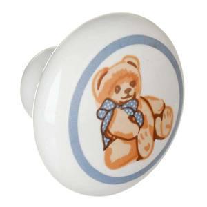 Puxador de Porcelana Urso 1 furo A037 Italy Line