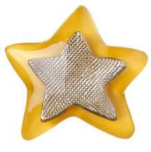 Puxador Infantil de Metal Resina Estrela Amarela 1 furo 3335 Chiquita Bacana 79a24c6b69dff
