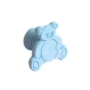 Puxador Infantil de Plástico Urso Azul Zamar