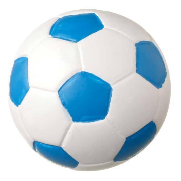 Puxador para Móveis Infantil Bola Futebol Branca e Azul Resina Branco e Azul  Chiquita Bacana 104c6feda6d73