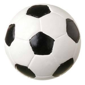 Puxador Infantil de Resina Bola de Futebol Branca e Preta 1 furo 3620 Chiquita Bacana