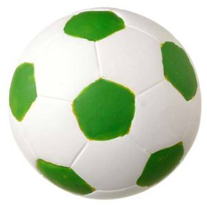 Puxador Infantil de Resina Bola de Futebol Branca e Verde 1 furo 3656 Chiquita Bacana