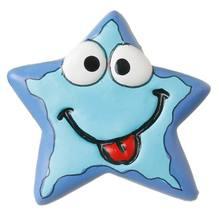 Puxador Infantil de Resina Estrela Zoiúda Azul 1 furo 3272 Chiquita Bacana e82ef2a693b8e