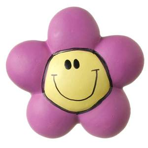 Puxador Infantil de Resina Flor Cara Lilás 1 furo 3264 Chiquita Bacana