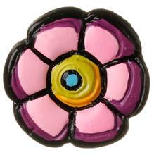 Puxador Infantil de Resina Flor Nova Rosa 1 furo 2442 Chiquita Bacana e486780a3f740