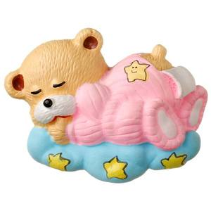 Puxador Infantil de Resina Urso Dorminhoco Rosa 1 furo 2463 Chiquita Bacana