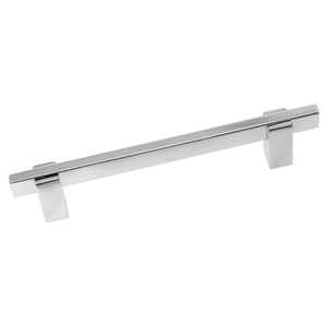 Puxador Para Móveis 120mm Alumínio Cromado Prata Pauma