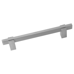 Puxador Para Móveis 150mm Alumínio Cromado Acetinado Prata Pauma