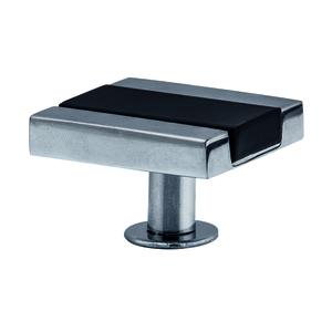 Puxador Para Móveis 20mm Alumínio Cromado Preto Pauma