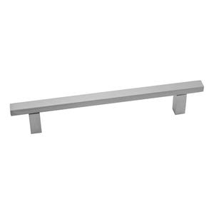 Puxador Para Móveis 230mm Alumínio Cromado Acetinado Prata Pauma