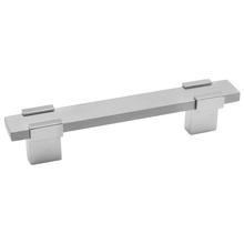 Puxador Para Móveis 400mm Alumínio Cromado Acetinado Prata Pauma