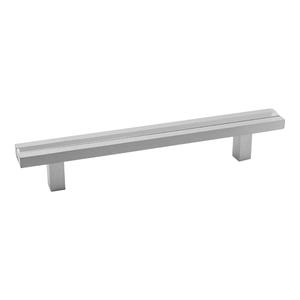Puxador Para Móveis 400mm Alumínio Cromado Prata Pauma
