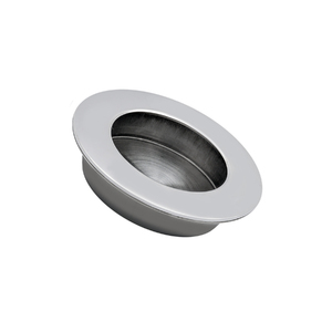 Puxador para Móveis 65mm Aço Inox Polido Prata Geris