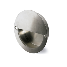 Puxador para Móveis Aço Inox Prata Escovado 70mm
