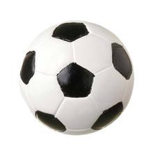 Puxador para Móveis Resina Bola de Futebol Branco e Preto