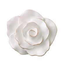 Puxador para Móveis Resina Flor Provençal Branco