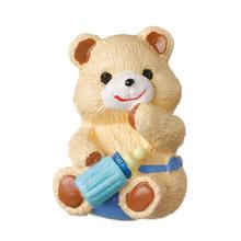 Puxador para Móveis Resina Urso Mamadeira Azul Bege