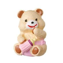 Puxador para Móveis Resina Urso Mamadeira Lilás Bege