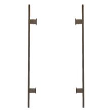 Puxador Para Porta de Madeira, Vidro e Metal Barra Reta 60cm Alumínio Antique