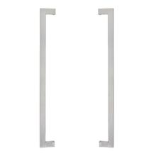 Puxador para Porta de Madeira e Vidro Barra Reta 60cm Aço Inox Escovado